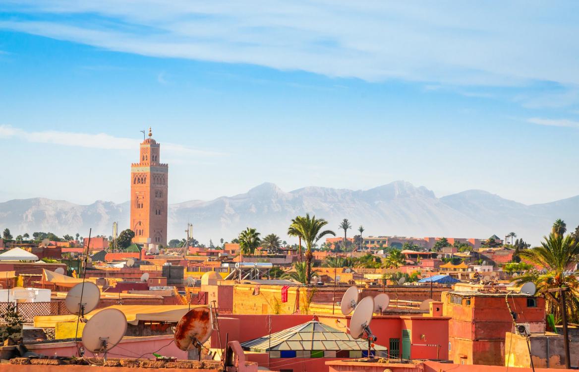 Marrakech au Maroc